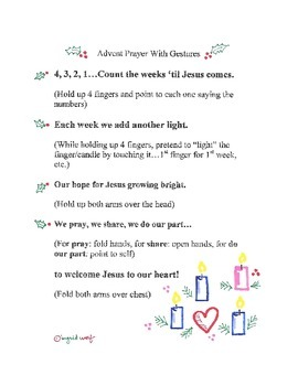 Advent Prayer With Actions