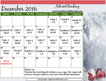 Advent Reading Calendar