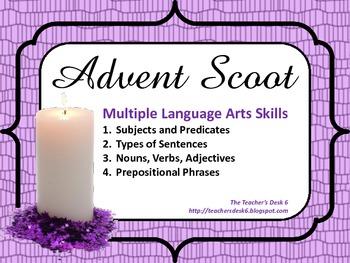 Advent SCOOT! Multiple ELA Language Arts Skills