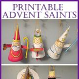 Advent Saint Ornaments Printable Craft
