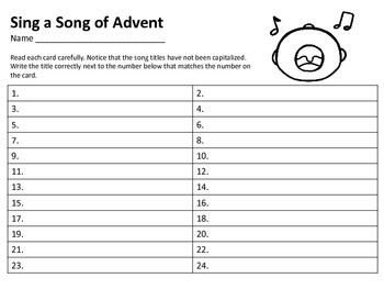 Advent Scoot Capitalization Titles QR Codes