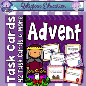 Advent Task Cards - 42 cards to use during Advent