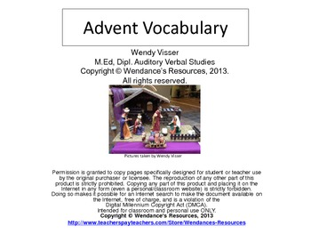 Advent Vocabulary