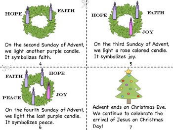 Advent: We Prepare for the Coming of Jesus Mini Book and Coloring Pages