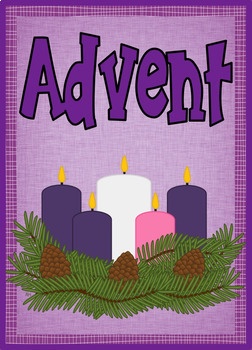 Advent Word Wall 40+ cards - Christmas, Jesus, Advent, candle and more