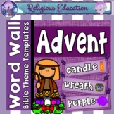 Advent Word Wall {40+ cards}
