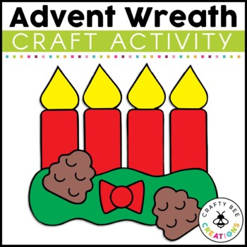 Advent Wreath Cut and Paste