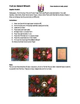 Advent Wreath Fruit Jar