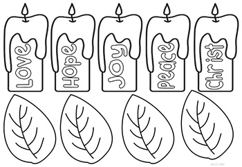 Advent Wreath - Paper Craft