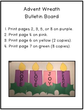 Advent Calendar 2017, Advent Writing Book & Bulletin Board Display