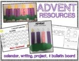 Advent Calendar 2018, Advent Writing Book & Bulletin Board Display