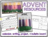Advent Calendar 2019, Advent Book, Advent Wreath Craft & Bulletin Board Display