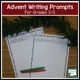 Advent Activities Writing Prompts for Grades 3-5