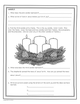 Advent mini-lessons and response booklet