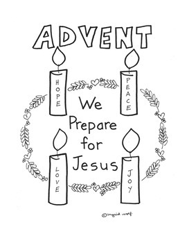 Advent wreath activity pages and banner pages