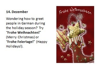 Adventkalender: German Bulletin Board Set
