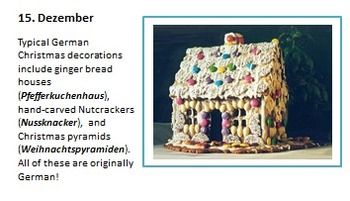 Adventkalender: German Bulletin Board Set