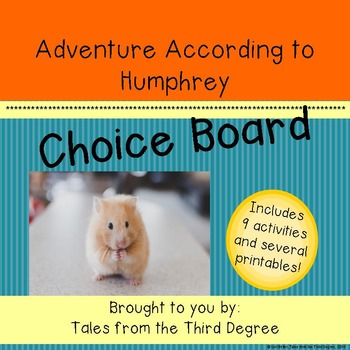 Reading and Writing Response Choice Board for Adventure According to Humphrey