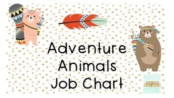 Adventure Animals Job Chart