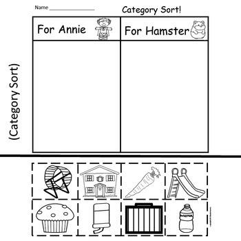 Adventure Annie Goes To Kindergarten  6 Easy Prep Literacy Centers