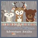 Adventure Awaits Tribal Decor Classroom Helpers Set EDITABLE