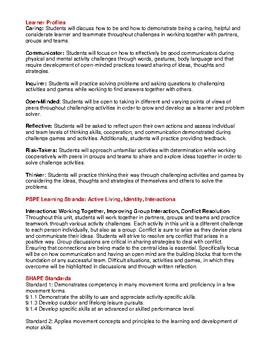 Adventure Challenges PE PYP Unit 2