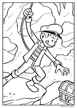 Adventure Coloring Page PDF