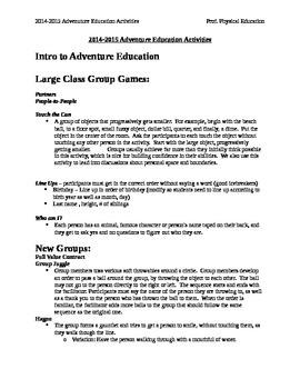 Adventure Education Activities