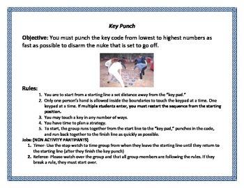 Adventure Education Task Cards