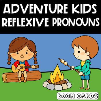 Adventure Kids Reflexive Pronouns Boom Card | Multiple Choice