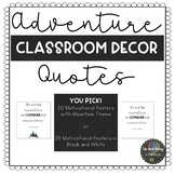 Adventure/Mountain Themed Motivational Classroom Posters