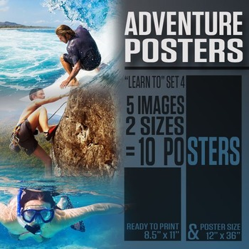 """Adventure Posters (""""Learn To"""" Series 4)"""