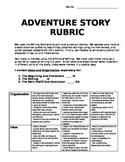 Adventure Story rubric - 6 Traits inspired