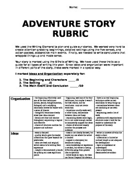 Adventure Story rubric - 6 Traits inspired
