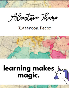 Adventure Theme Classroom Decor