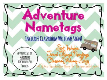 Adventure Theme Name Tags