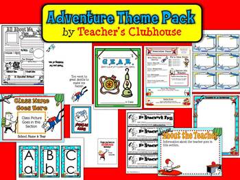Adventure Theme Pack from Teacher's Clubhouse