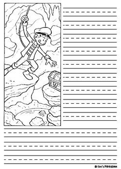 Adventure Theme Writing Templates PDF