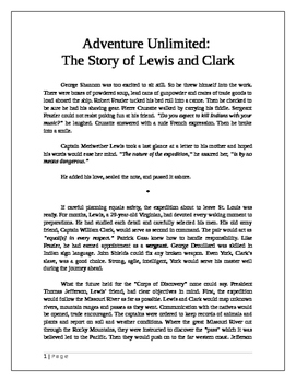 Adventure Unlimited: The Story of Lewis and Clark