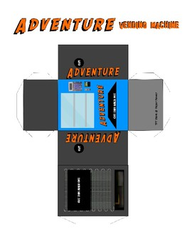 3D Foldable Adventure Vending Machine Story Starter Literacy Pack