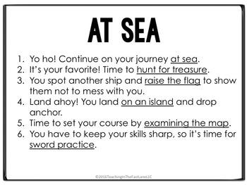 Adventure Writing Project: Pirates Dice Simulation