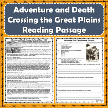Free dbqs resources lesson plans teachers pay teachers adventure and death crossing the great plains primary source reading passage publicscrutiny Images