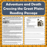 Westward Expansion - Adventure/Death on the Great Plains Primary Source Passage