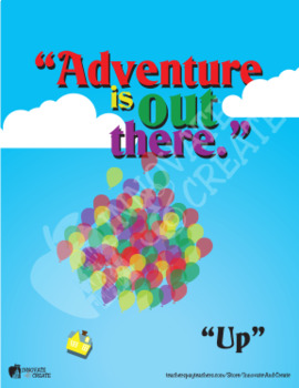 Adventure is out there - Poster