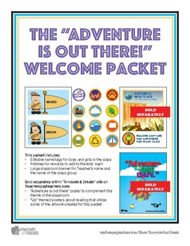 Adventure is out there Welcome Packet