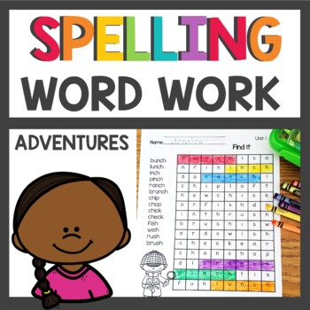 Spelling Pattern Word Work activities