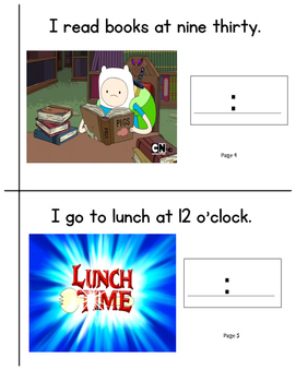 Adventure time telling time activity