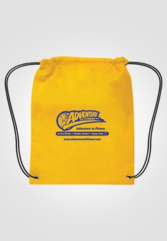 Adventure to Fitness Drawstring Backpack