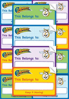 Adventure to Fitness Label Stickers (assorted 20 ct)