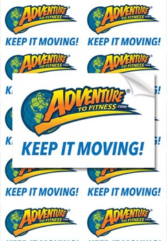 Adventure to Fitness Logo Stickers (20 ct)